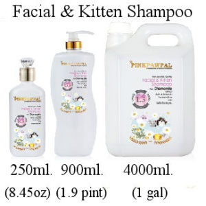 PinkPawPal professional grooming products, facial and kitten shampoo