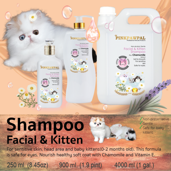 Facial and Kitten shampoo by pinkpawpal for dogs and cats
