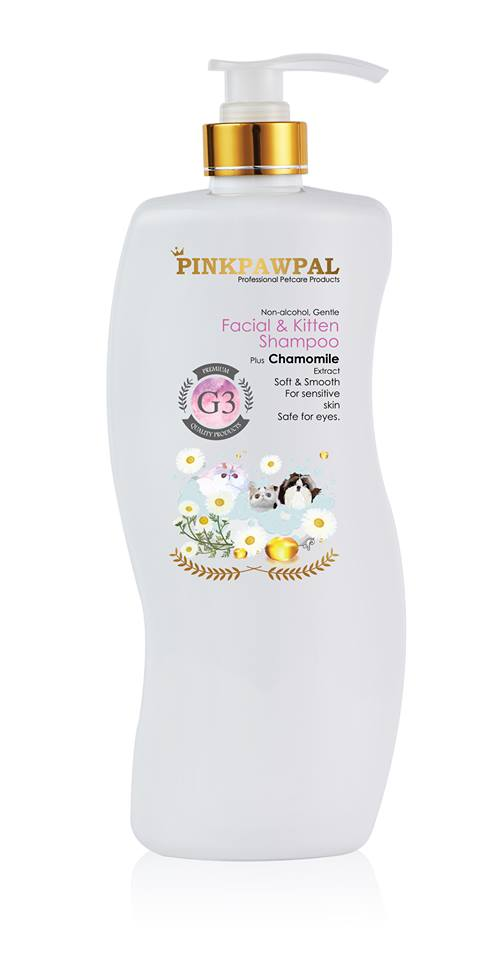 PinkPawPal-USA Facial and Kitten Shampoo 900ml - L3