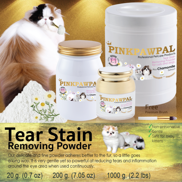 Tear Stain Removing Powder for cats and dogs by pinkpawpal