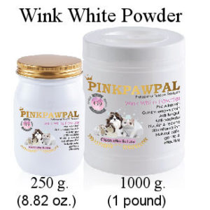 Pink Paw Pal -Wink White powder