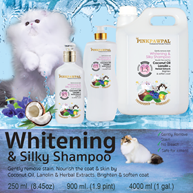 Whitening and Silky Shampoo for cats and dogs