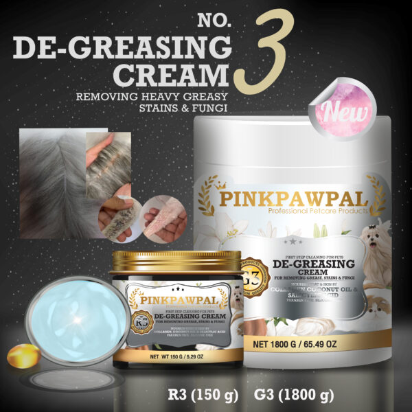De-greasing cream for pets by pinkpawpal